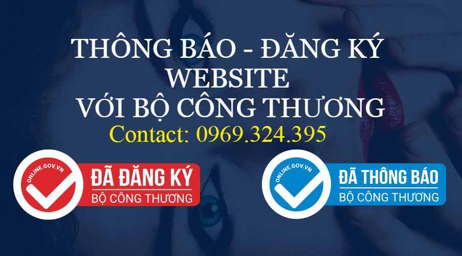 đăng ký website với bộ công thương